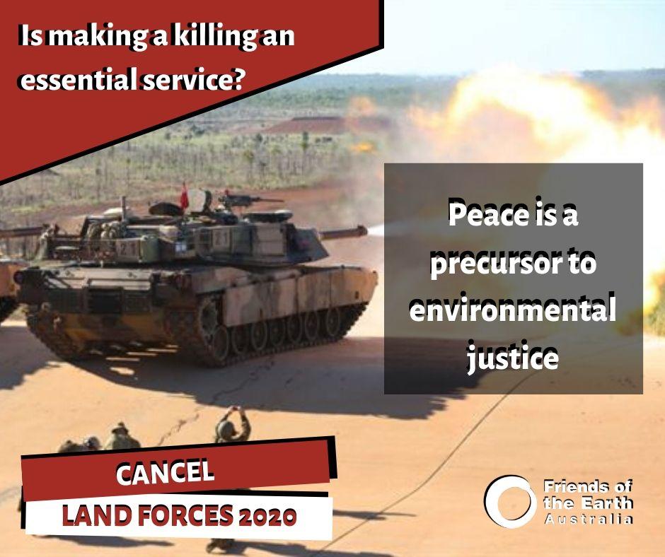 Peace is a precursor to environmental justice