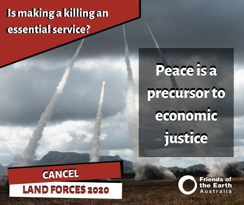 Peace is a precursor to economic justice