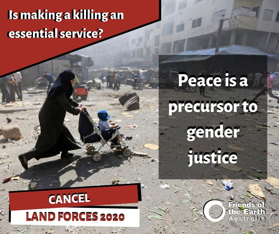 Peace is a precursor to gender justice