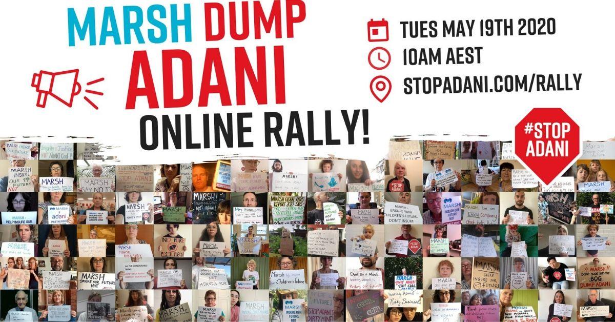 Marsh Dump Adani Rally