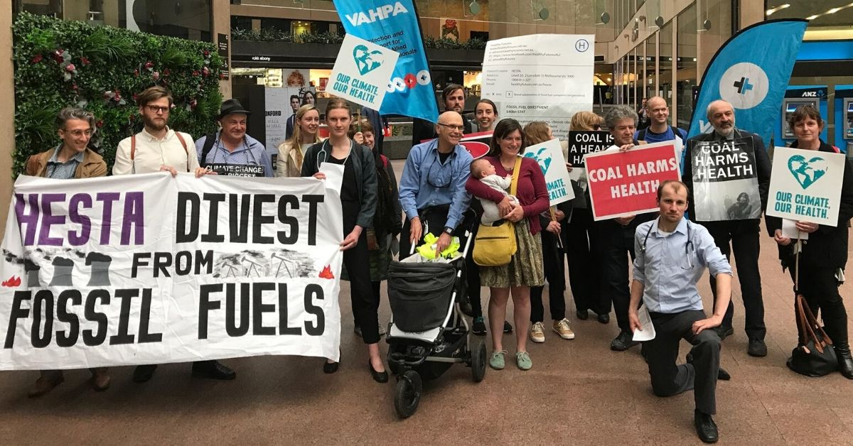 Healthy Futures and friends outside HESTA offices in 2018