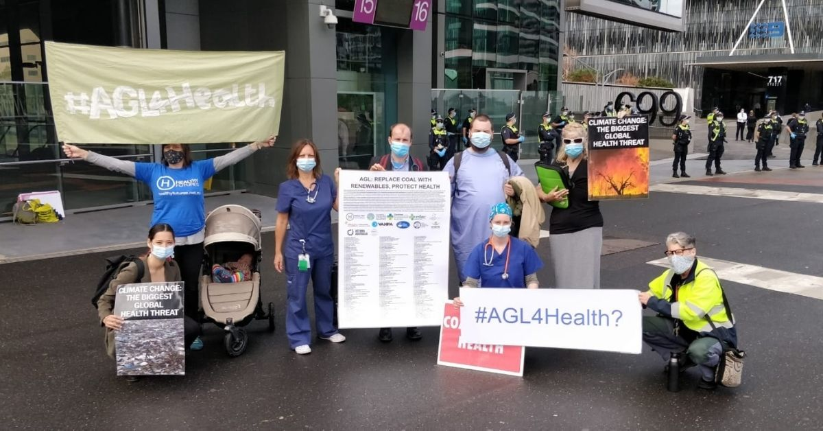 Healthy Futures protest at AGL
