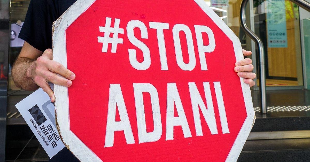 Stop Adani sign up close