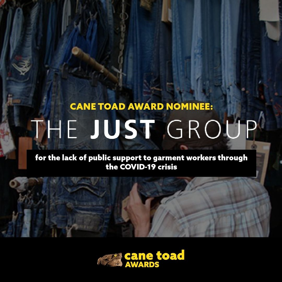 X The JUST Group - for the lack of public support to garment workers through the COVID-19 crisis