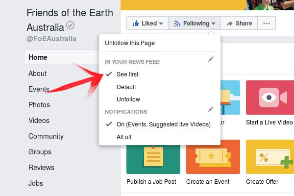 How to keep up with FoE on Facebook