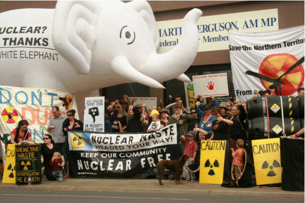 Community protest against uranium mining