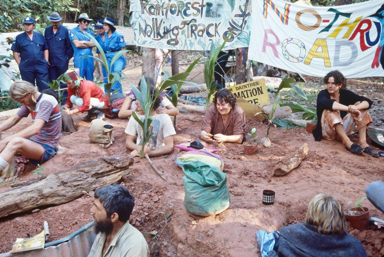 Daintree protesters buried in mud- Cliff Frith