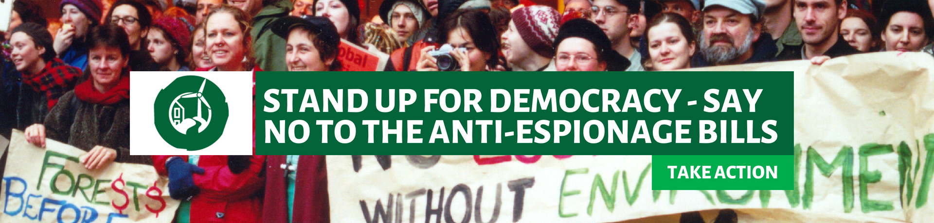 Stand up for democracy - say no to the anti-espionage bills