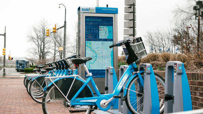 Bike | Use the Indego stations at Ridge & Fairmount Ave. and 20th and Fairmount Ave.