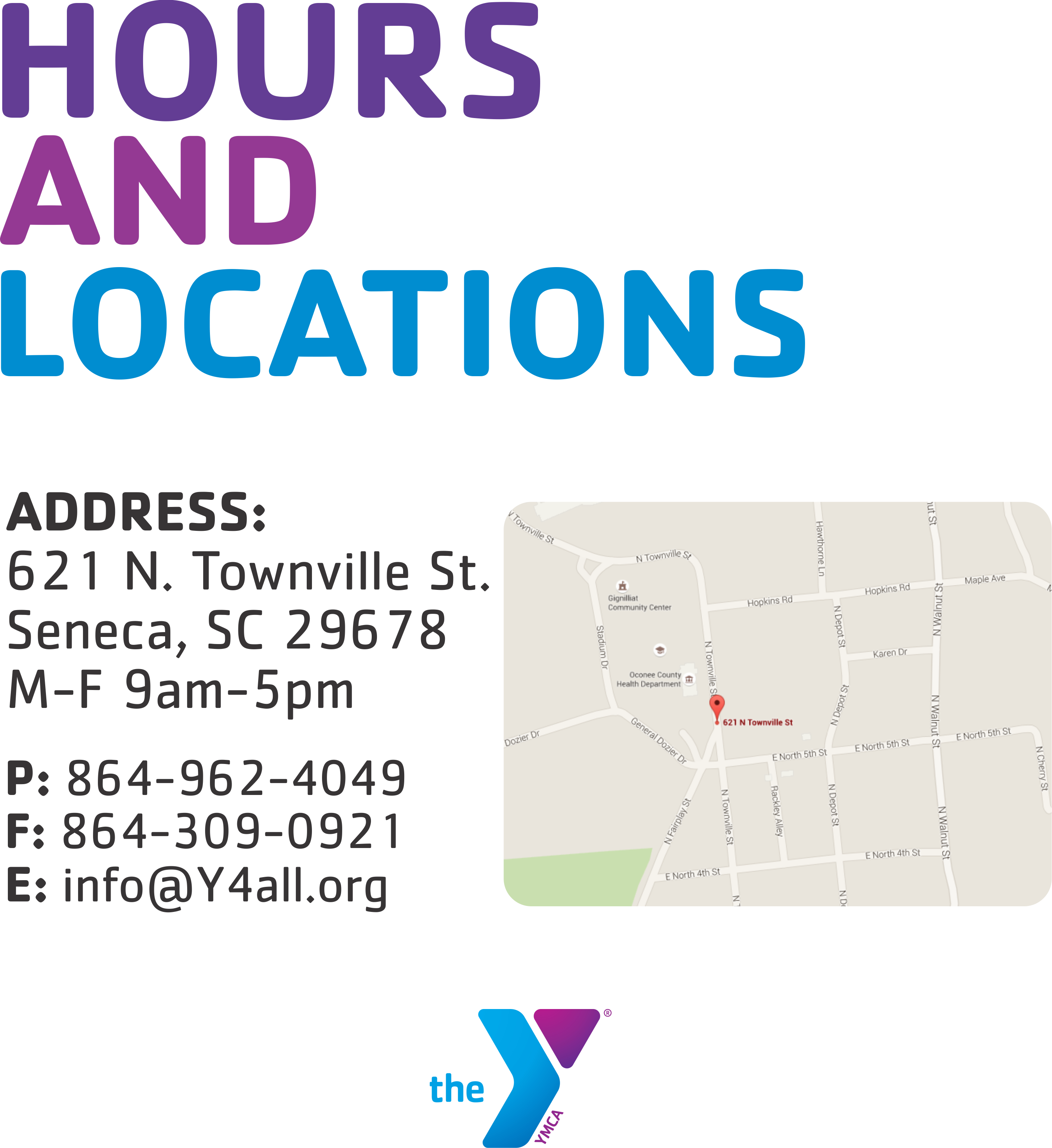 Hours and Locations - Foothills YMCA