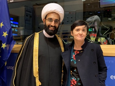 Anne Marie Waters and Imam Tawhidi