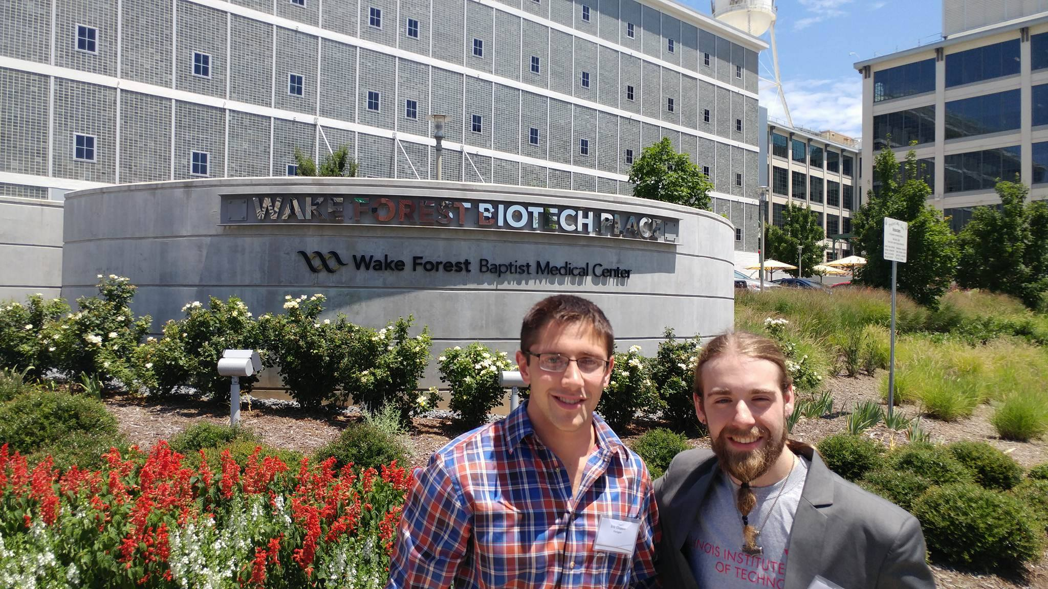 Eric_and_Eric_in_front_of_WF_Biotech_Place.jpg