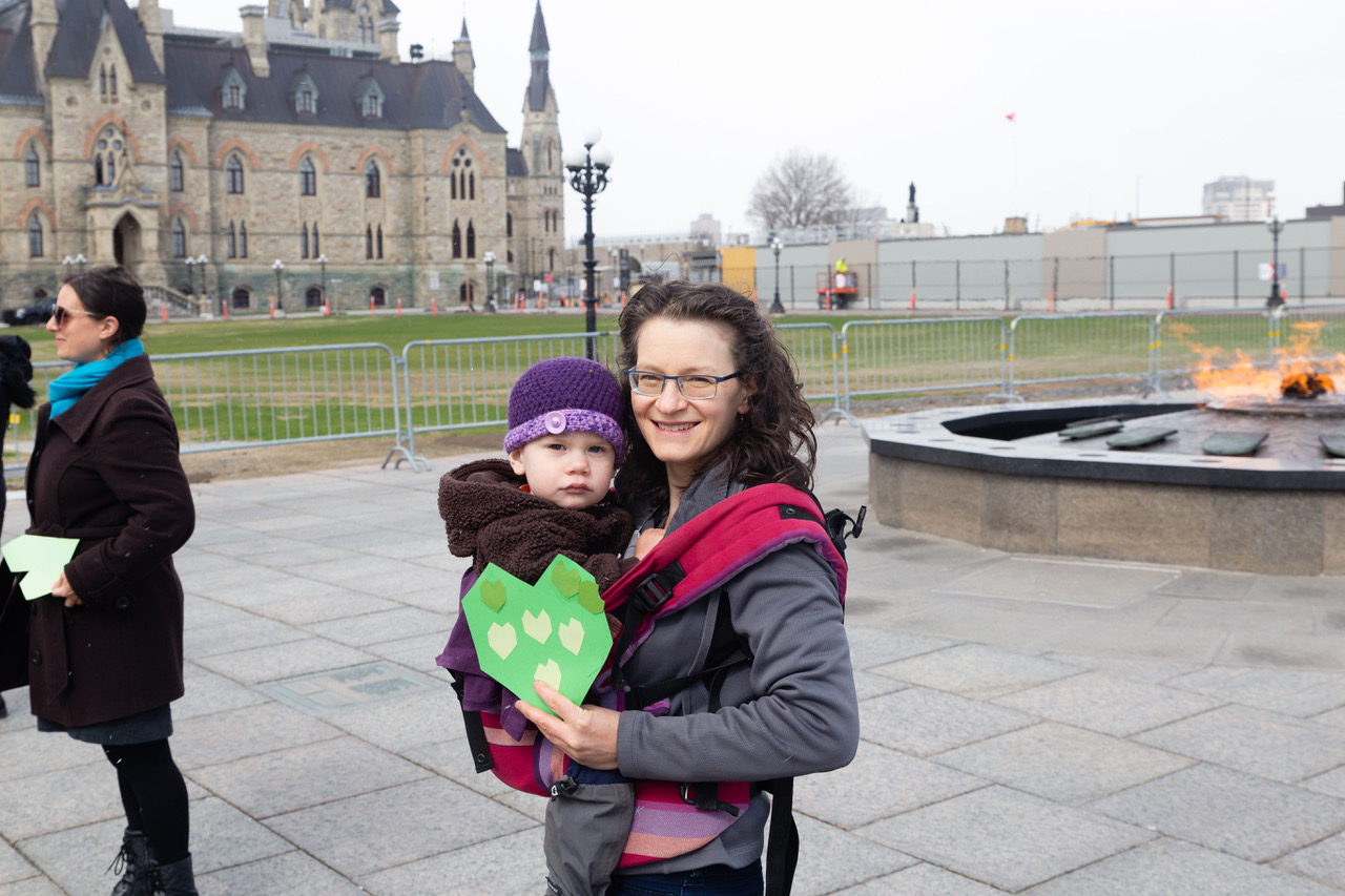 Demonstration on parliament hill for mothers day