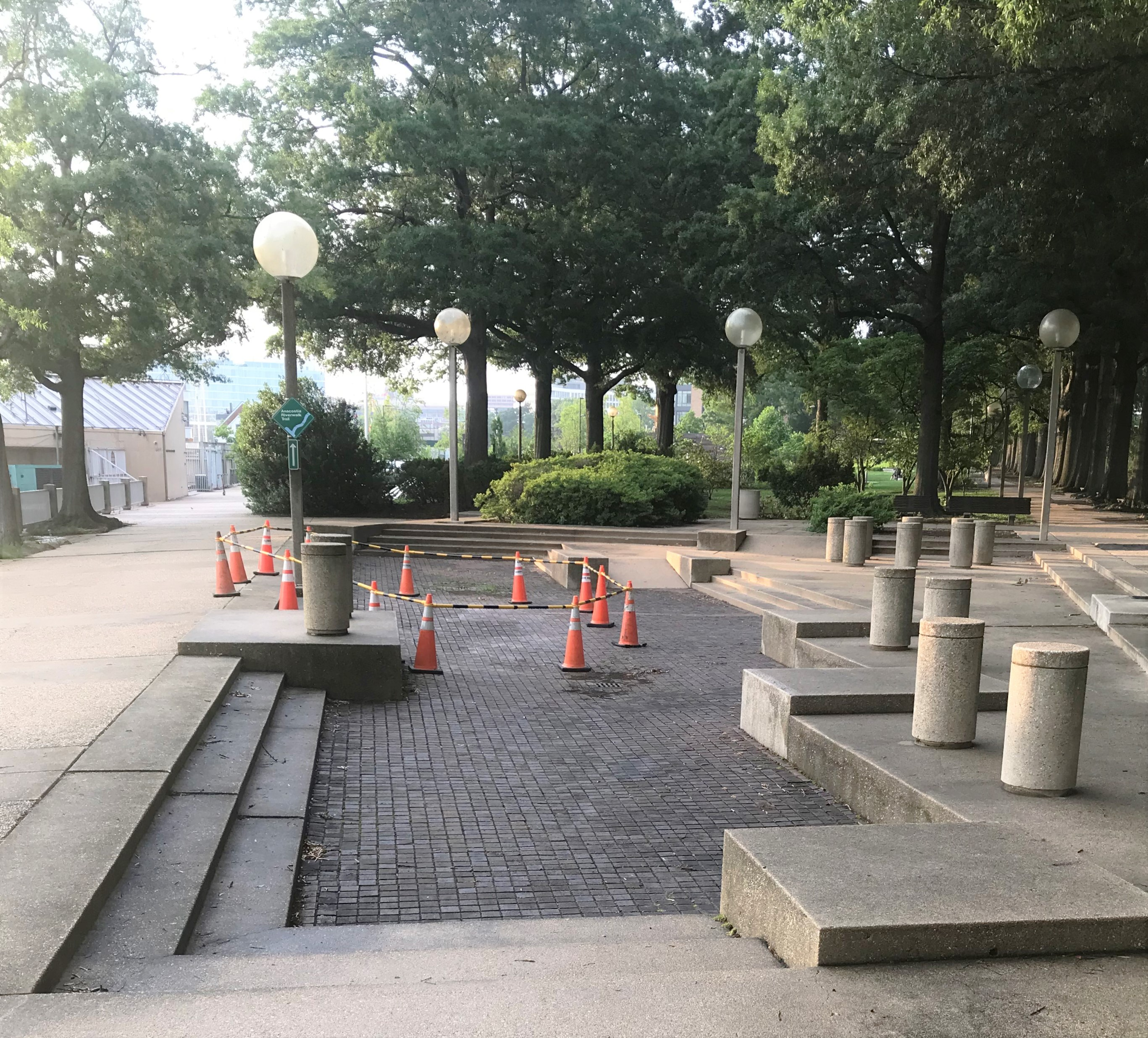 Tile work begins in the Park