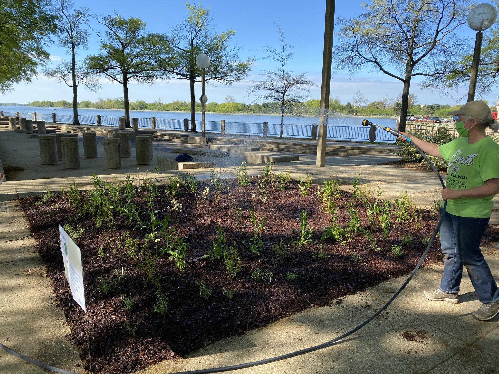 Demonstration Garden Watering