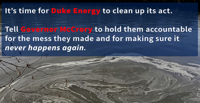 Hold Duke Energy responsible for the coal ash spill clean up costs.