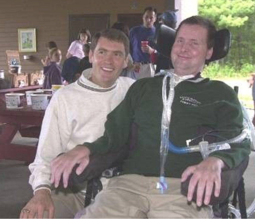 Frank with Major (ret) Michael Donnelly diagnosed with ALS