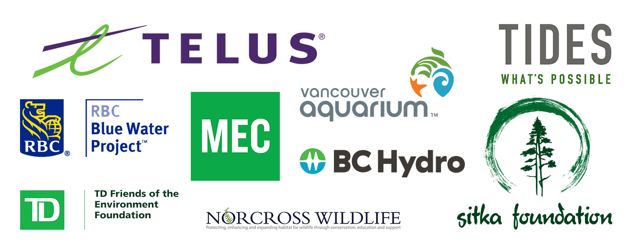 Fraser Riverkeeper Supporters: Patagonia, Global Greengrants Fund, Vancouver Aquarium, Norcross Wildlife, TD Friends of the Environment Foundation, Progressive Waste Solutions, Starbucks Coffee