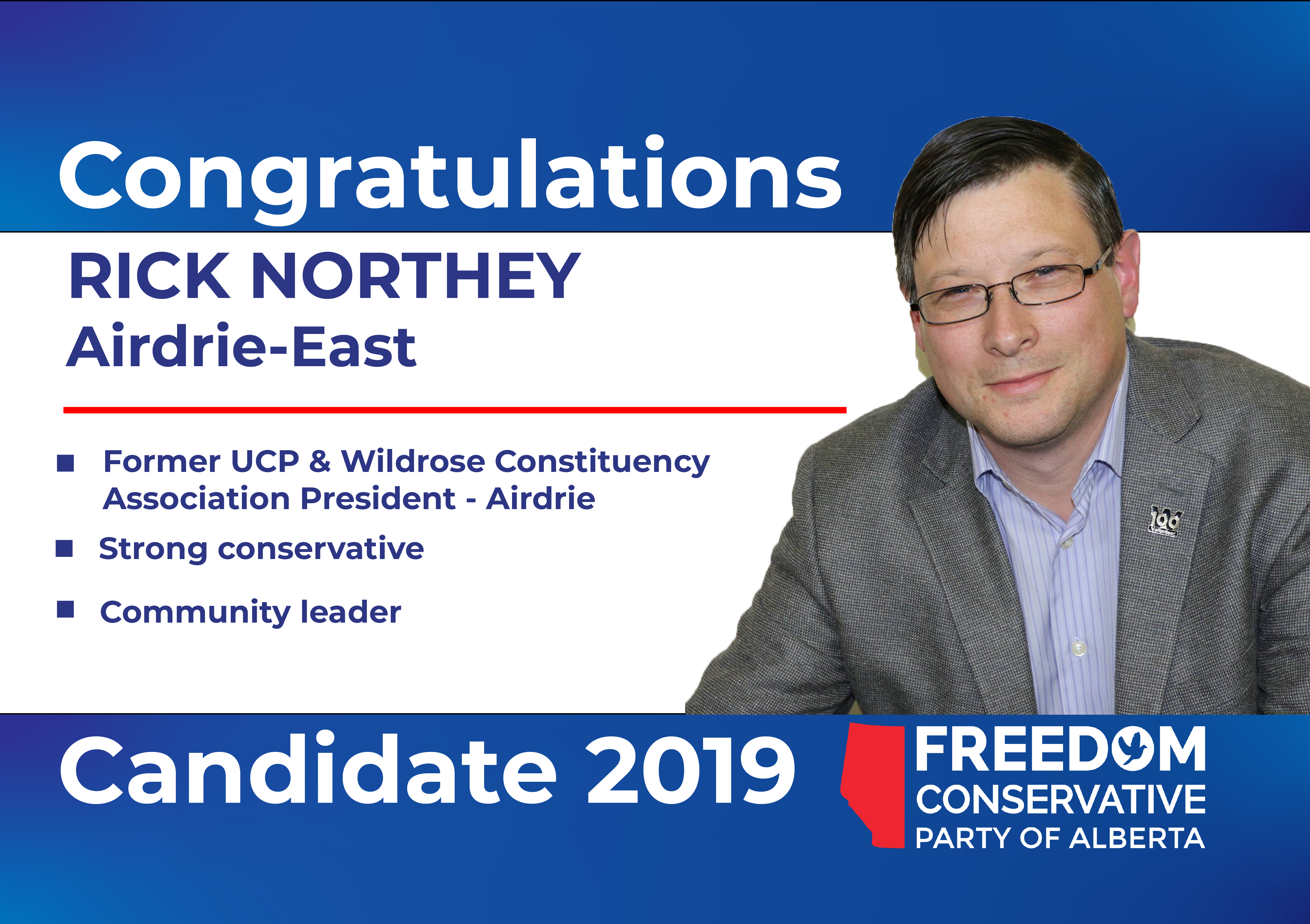 RELEASE: Rick Northey Nominated as FCP Candidate forAirdrie-East