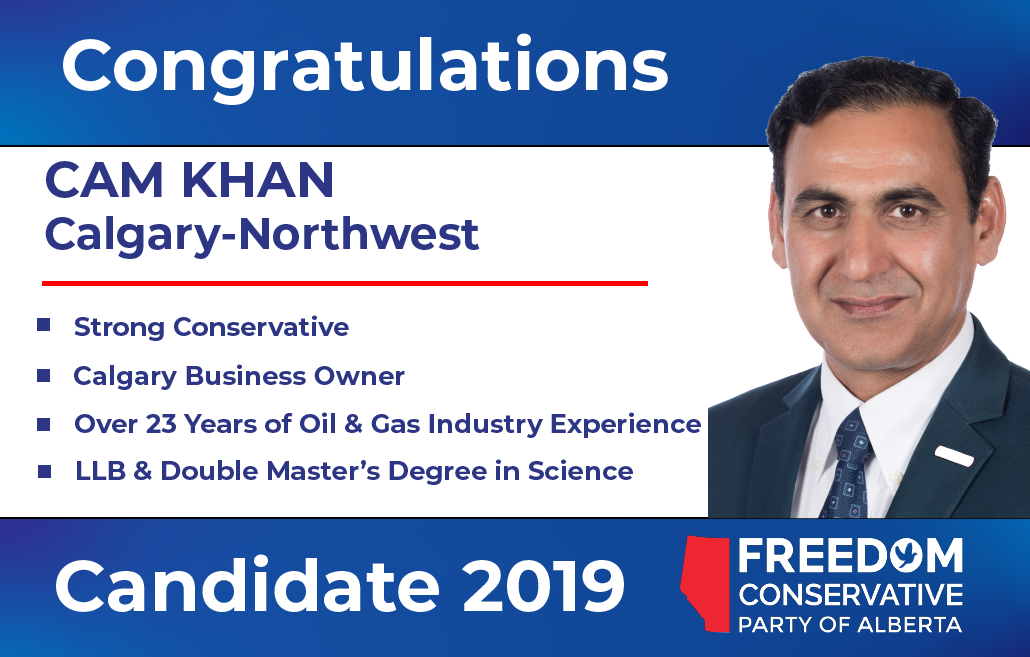 RELEASE: Cam Khan Nominated as FCP Candidate for Calgary-Northwest