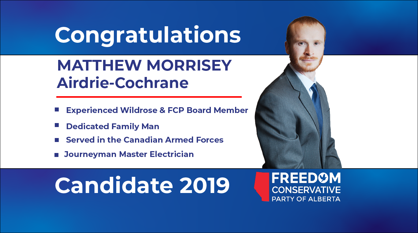 RELEASE: Matthew Morrisey Nominated as FCP Candidate for Airdrie-Cochrane
