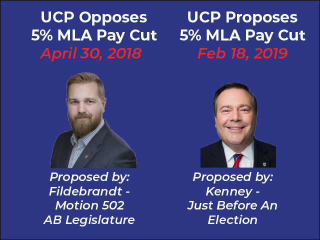 Release: Tories Support MLA Pay Cut Months After Voting Against It