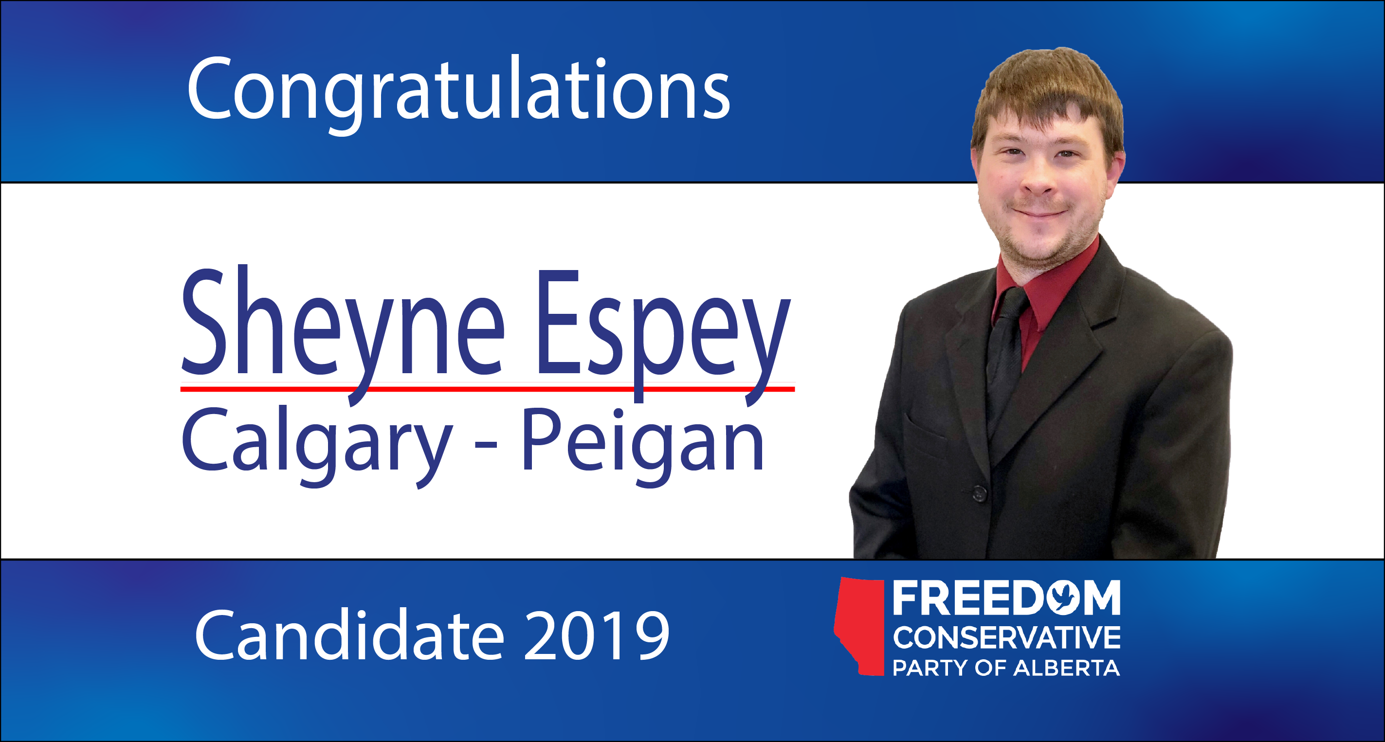 RELEASE: Sheyne Espey Nominated as FCP Candidate forCalgary-Peigan
