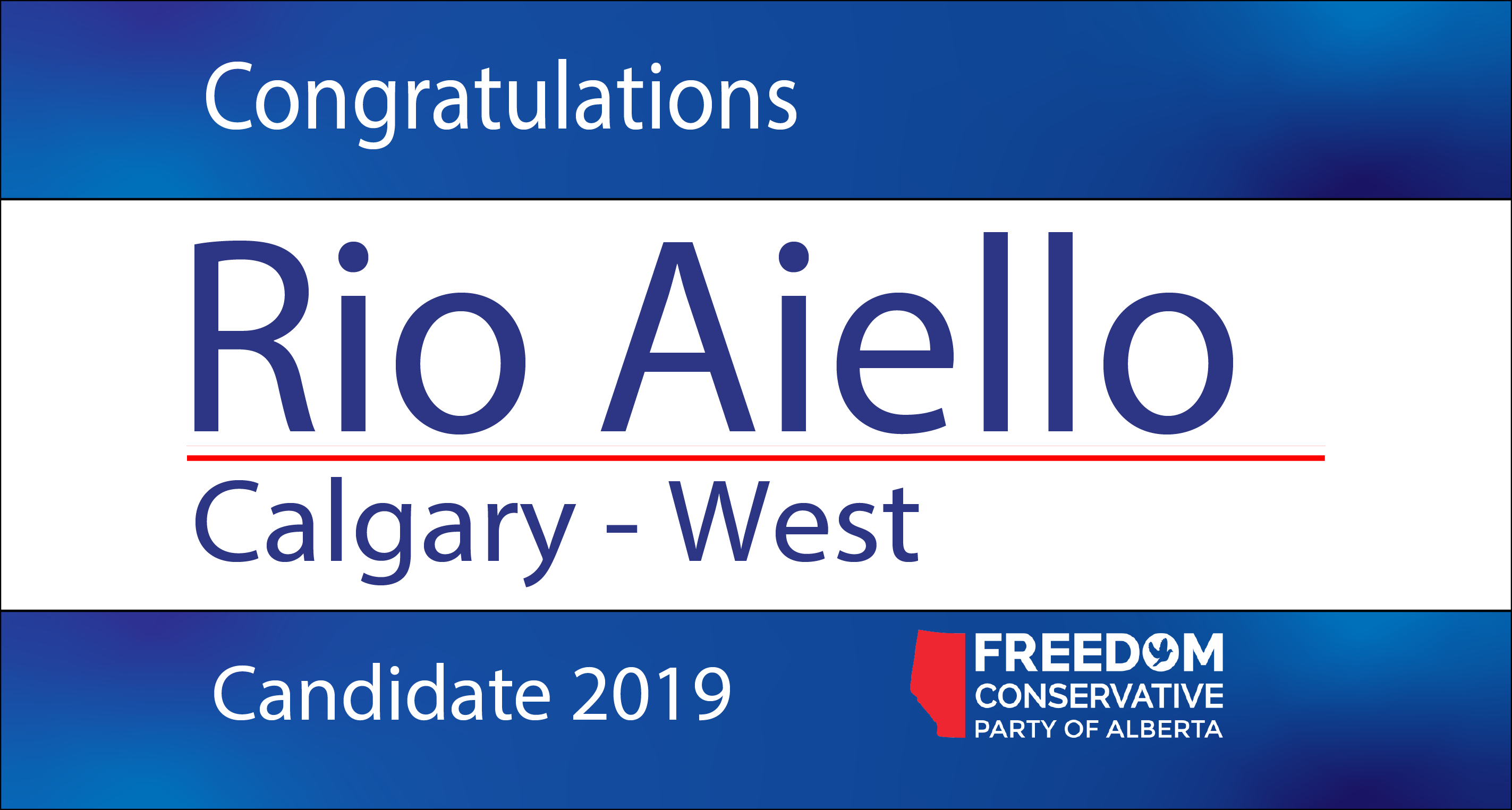 RELEASE: Rio Aiello Nominated as FCP Candidate for Calgary - West