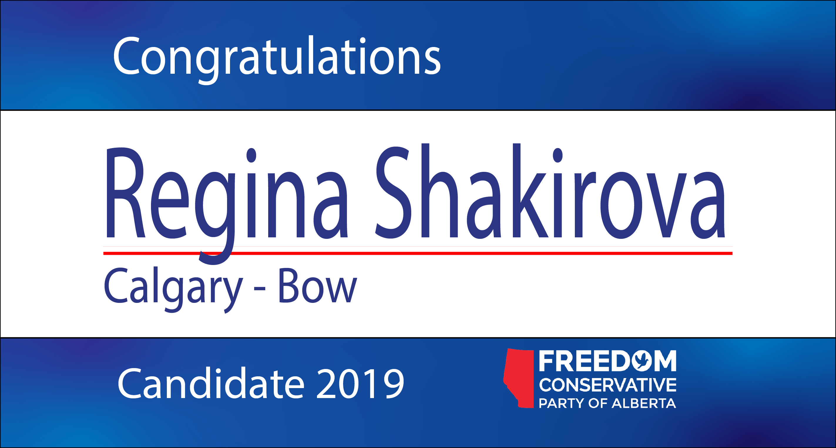 RELEASE: Regina Shakirova Nominated as FCP Candidate for Calgary - Bow