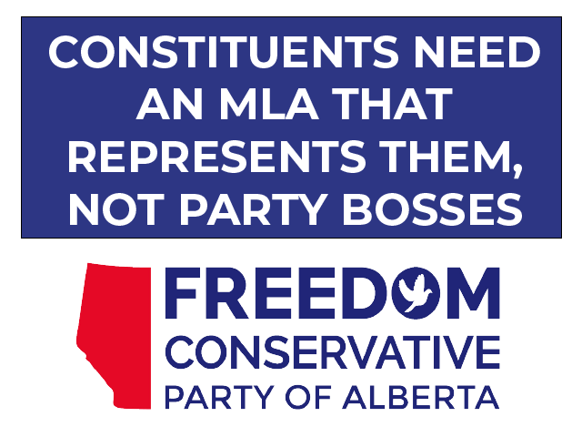 CONSTITUENTS NEED AN MLA THAT REPRESENTS THEM, NOT PARTY BOSSES