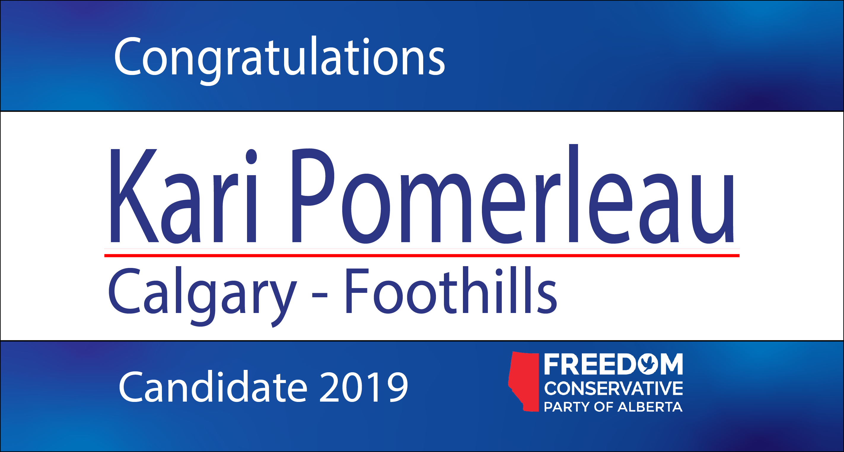 RELEASE: Kari Pomerleau Nominated as FCP Candidate for Calgary – Foothills