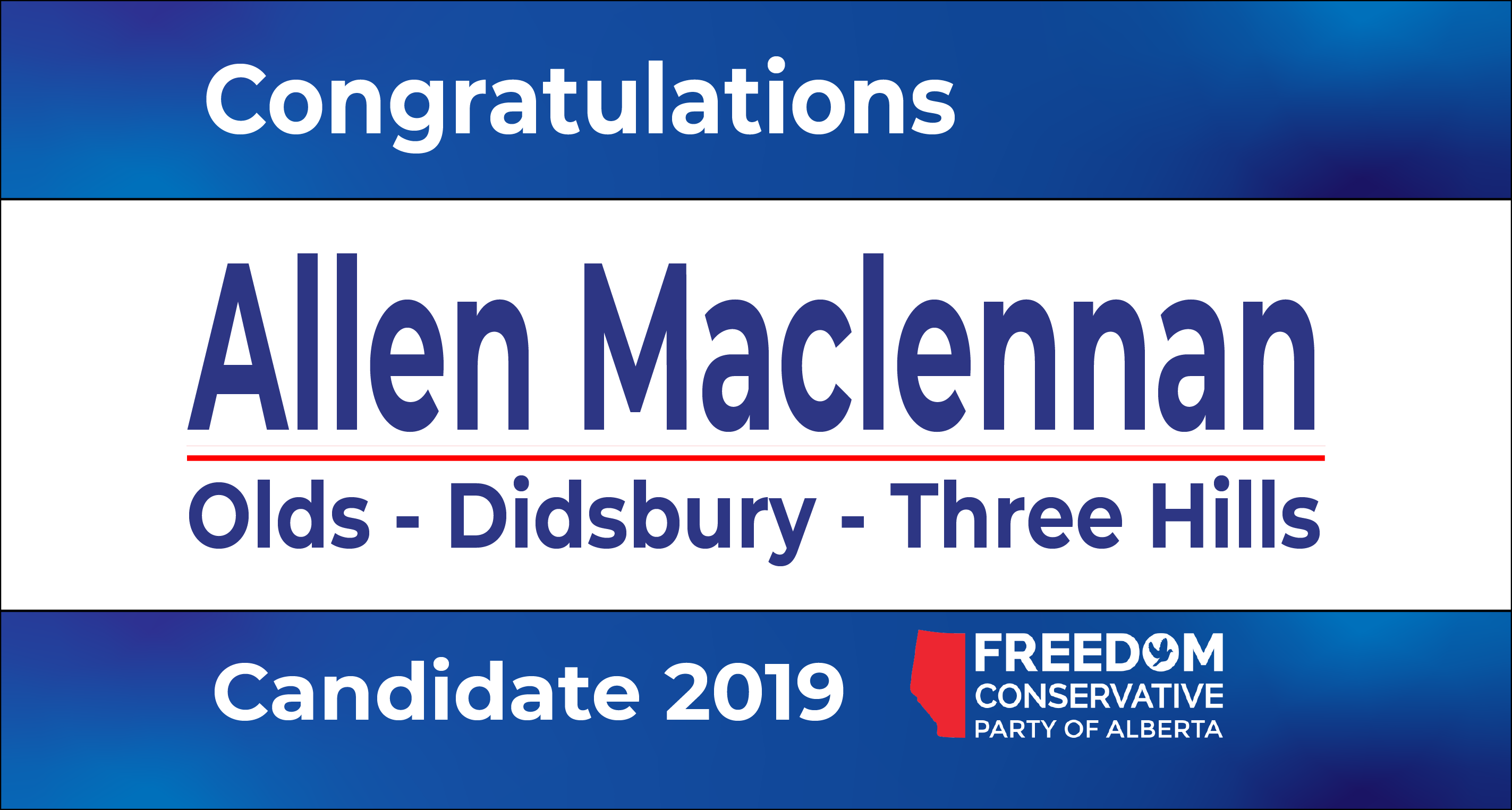 RELEASE: Allen Maclennon Nominated as FCP Candidate for Olds – Didsbury – Three Hills