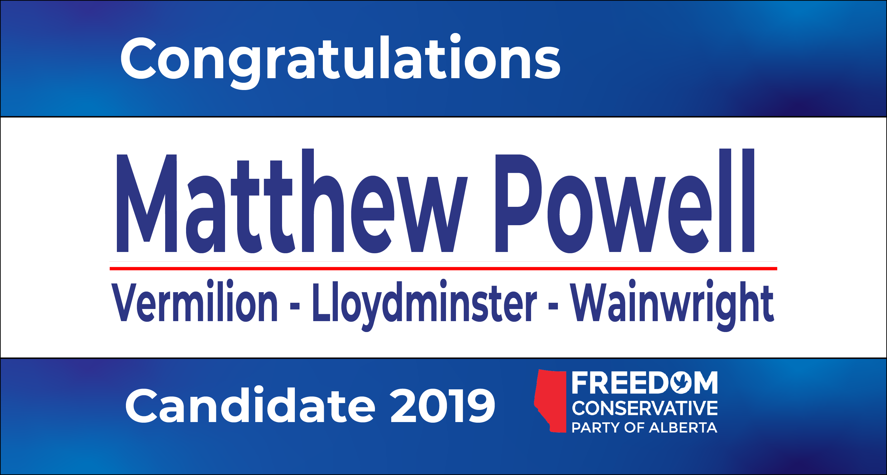RELEASE: Matthew Powell Nominated as FCP Candidate for Vermilion – Lloydminster – Wainwright