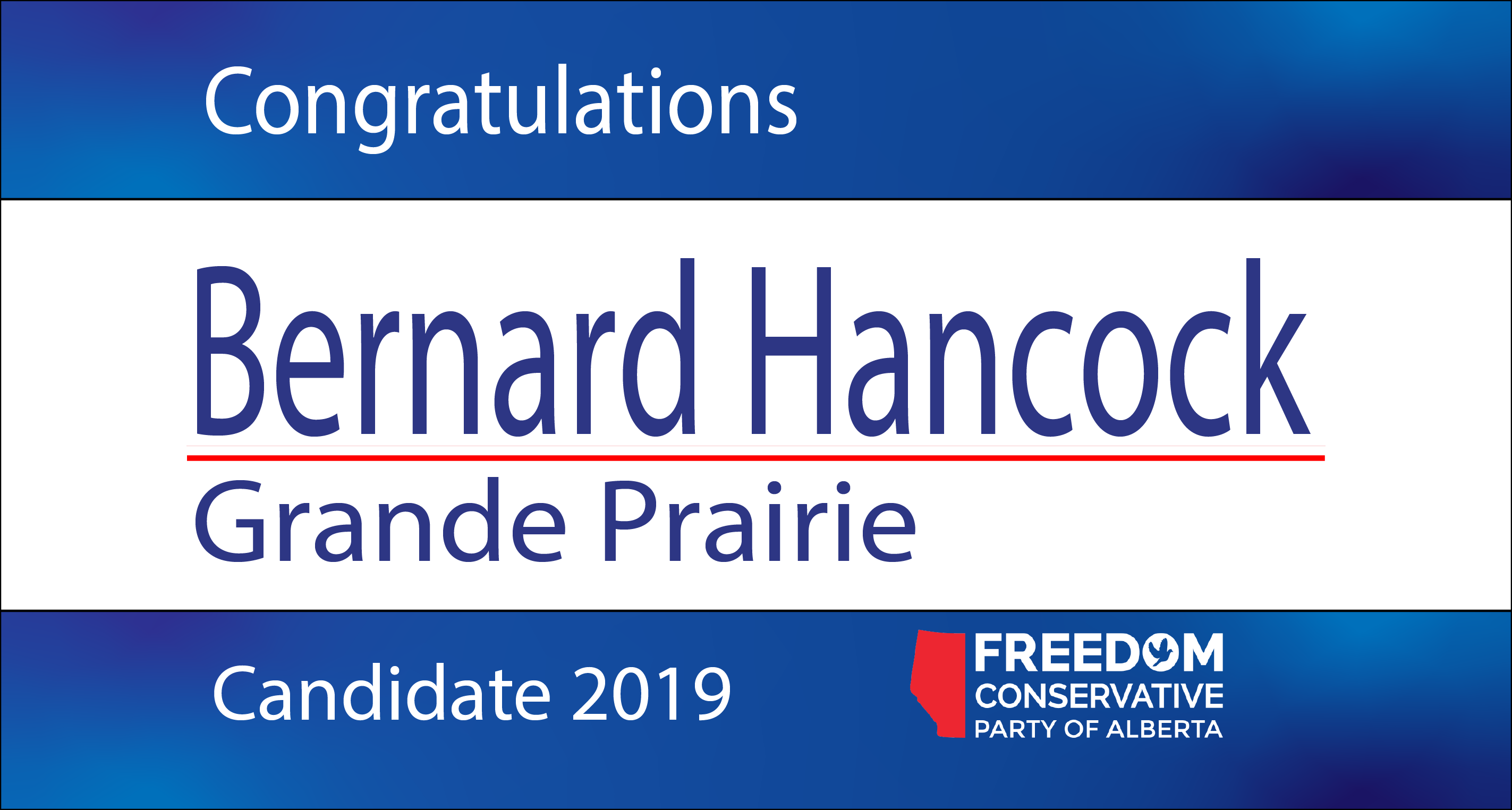 RELEASE: Bernard Hancock Nominated as FCP Candidate for Grande Prairie