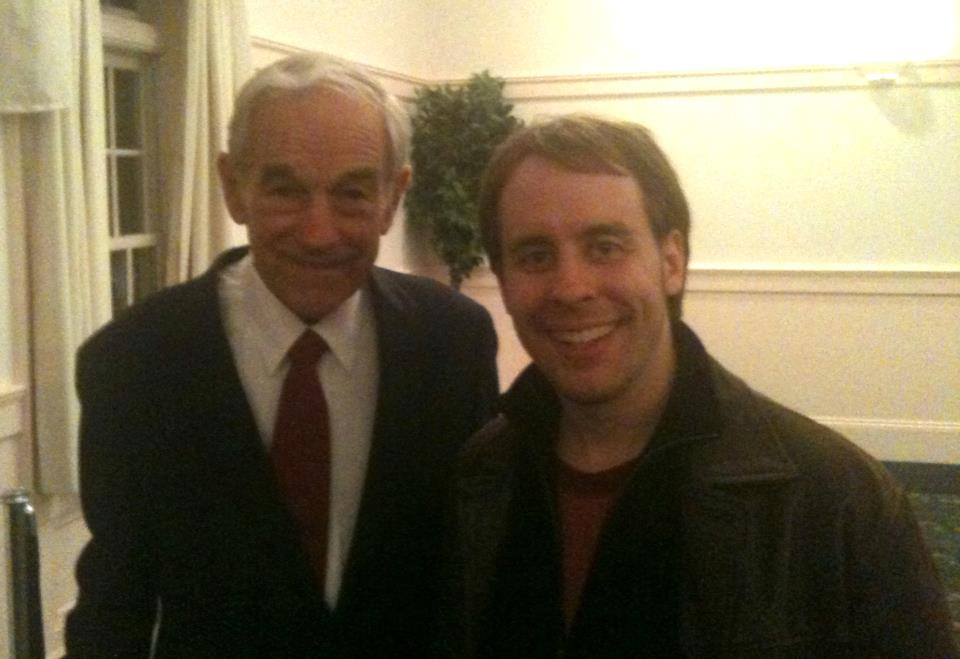 Eric with Dr. Ron Paul