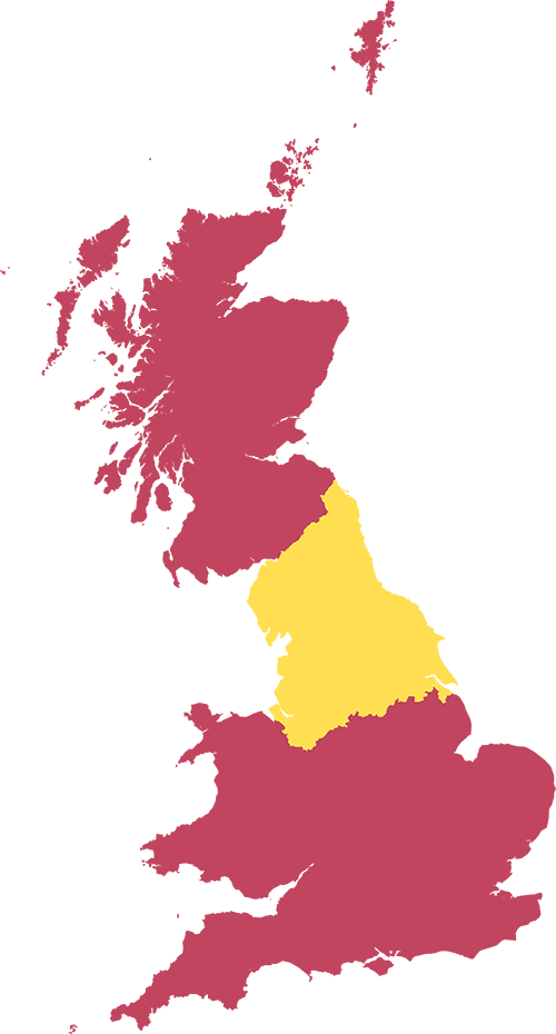 Map of UK Showing Northumbrian borders