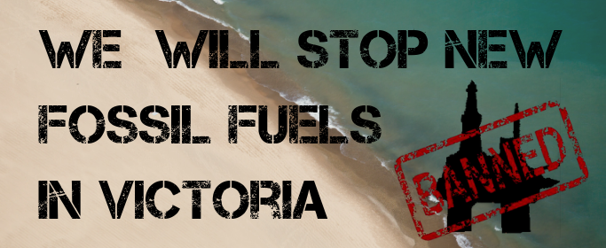 We will stop new fossil fuels