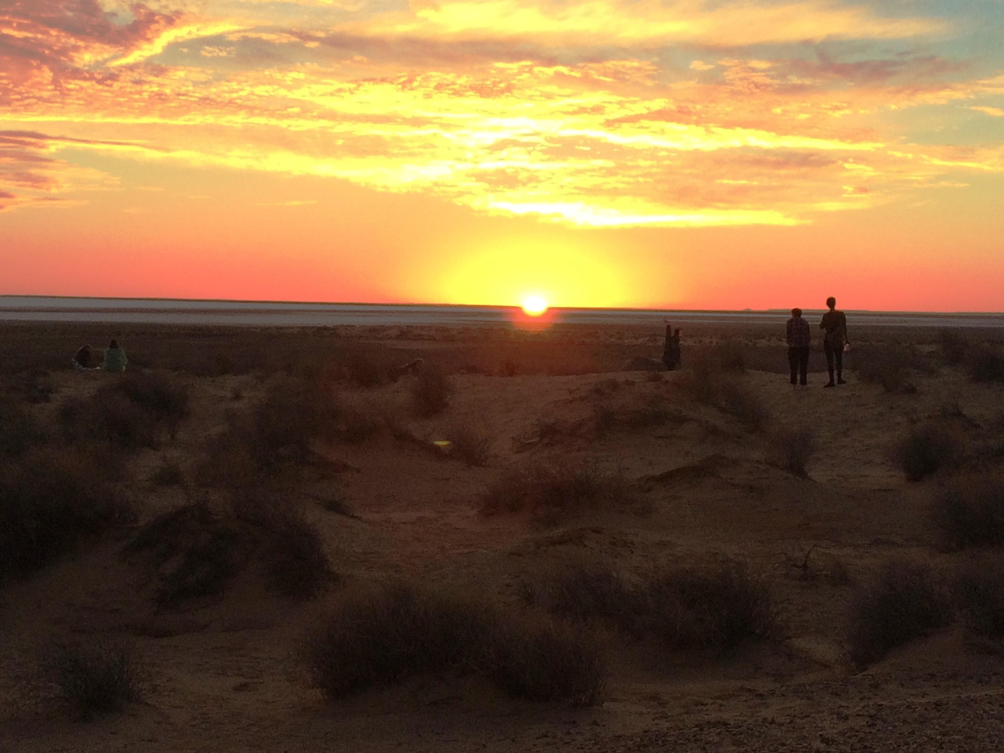 Sunset at Lake Eyre