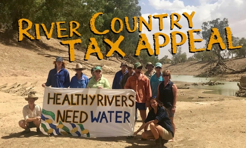 Tilpa Community in the dry Darling river bed