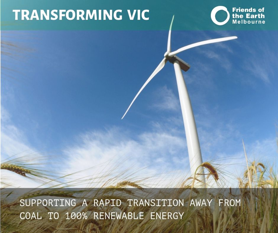 Supporting a rapid transition away from coal to 100% renewable energy