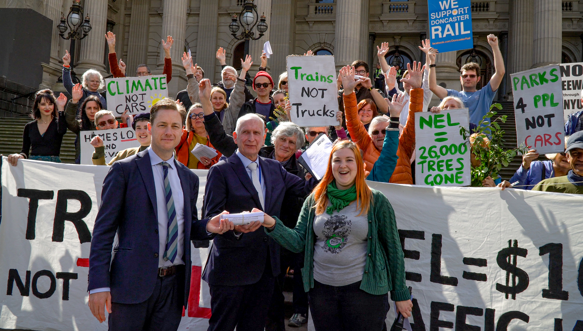 Stop the North East Link Sustainable Cities Petition Delivery