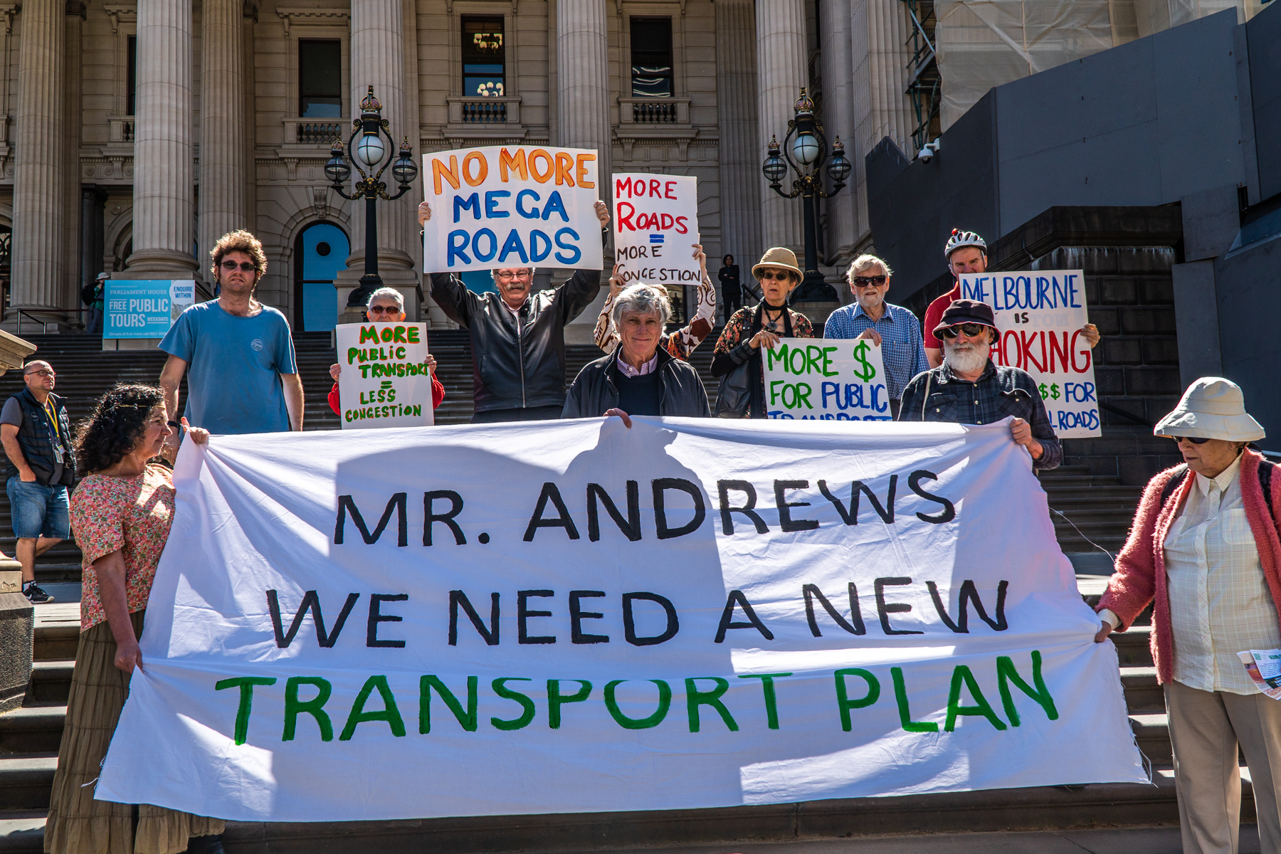 Sustainable Cities Friends of the Earth New Transport Plan Rally