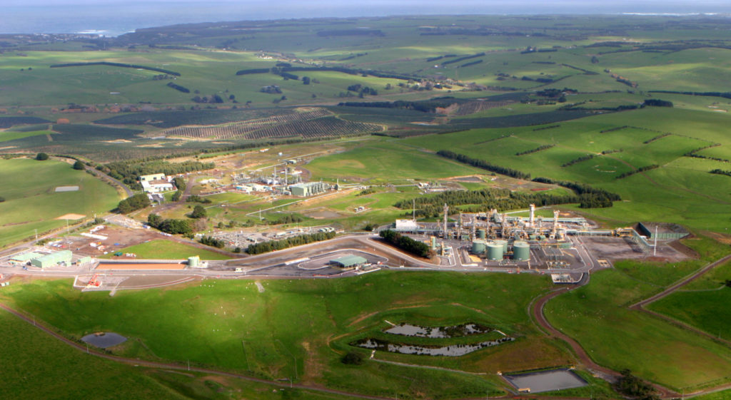 Otway Gas Plant near Port Campbell, Victoria