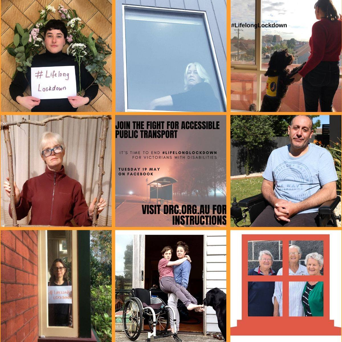 Several images of people holding up signs saying #LifelongLockdown