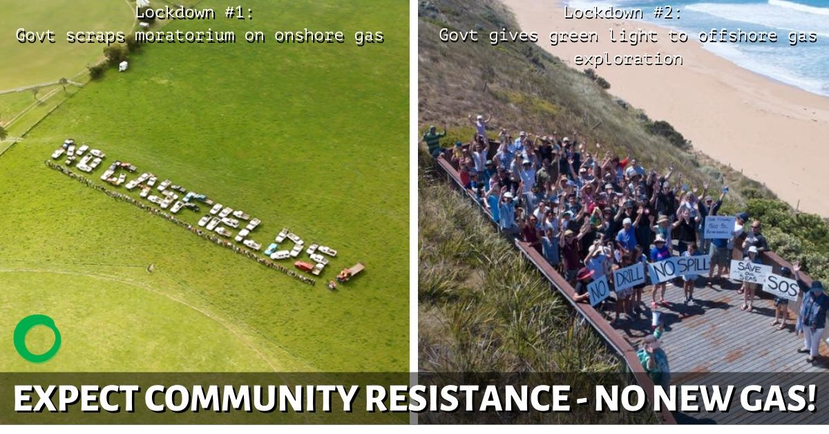 Community resistance to gas announcements in VIC