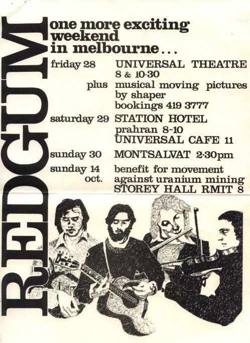 Red Gum hand bill 1979