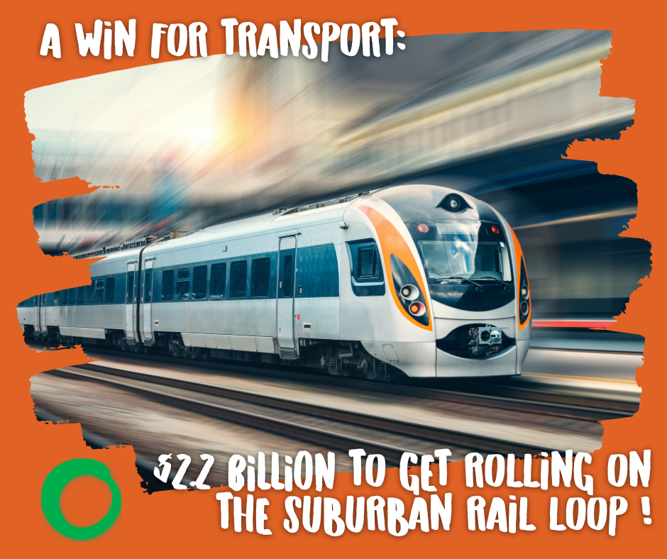 Win for transport: $2.2B to get rolling on the Suburban Rail Loop