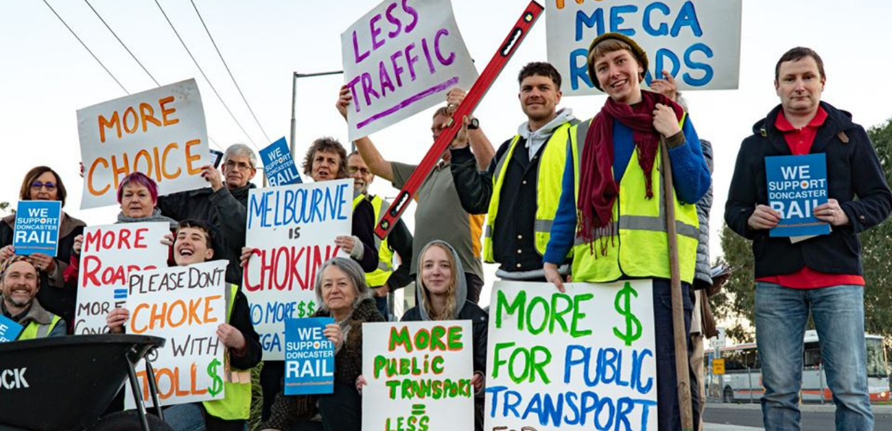Transport emissions are the 2nd biggest sector of greenhouse gas emissions, and the fastest rising sector in Victoria. Ensuring fast, reliable and electric public transport and active travel options that are accessible to all, rather than more mega roads is key to reducing emissions, creating local jobs and connecting our communities