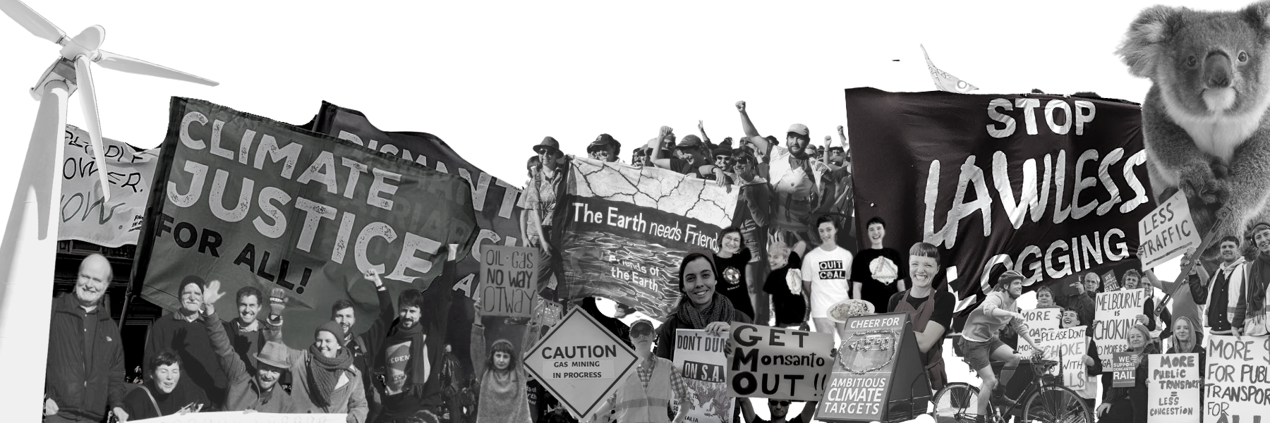 Since 1974, we have defended and protected forests and waterways, stood as allies in the struggles for First Nations' self determination and land rights, opposed uranium mining, protested the destruction of war and kept fossil fuels in the ground.