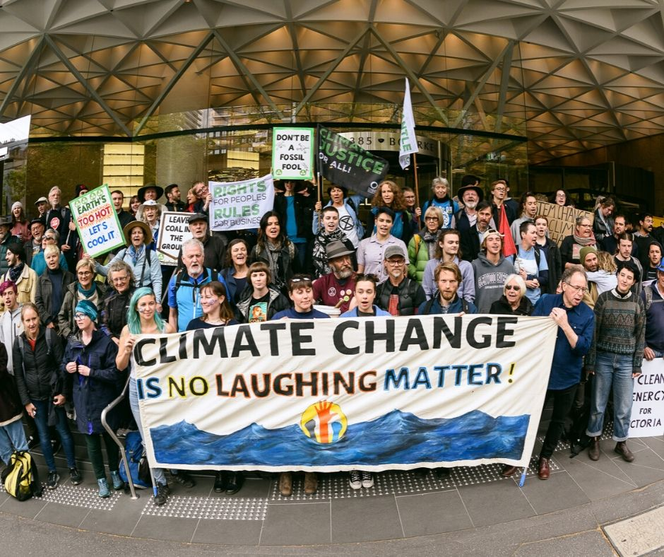 Friends of the Earth volunteers at a rally they organised themselves!